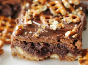 AhhhhMazing Pretzel Brownies