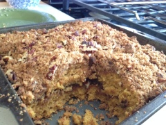 Pumpkin Gingersnap Coffee Cake