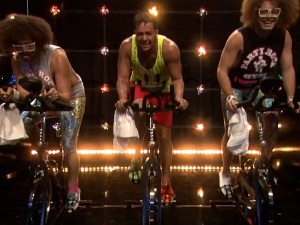 LMFAO on spin bikes